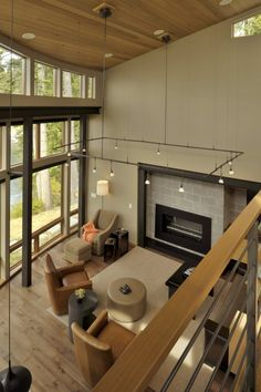 David Vandervort Architects created this contemporary residence for a client located on San Juan Island, Washington, USA