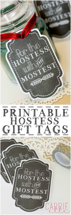 Free Printable Gift Tags: Hostess Gift Tag - Carrie Elle
