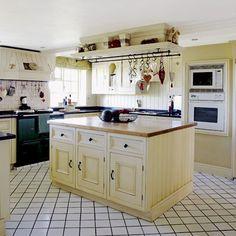 Country kitchen island unit