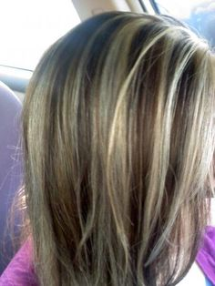 brown lowlights and very light highlights I want my hair color like this:)