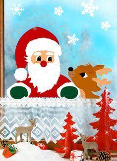 Weihnachtsmann mit Reh - Barbaras Bastelwelt