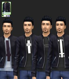 Cross Tee And Jackets For Males at Simista via Sims 4 Updates