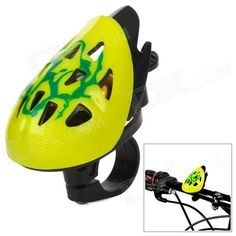 Stylish Novel Helmet Style Bell for Bicycle - Yellow   Black Price: $4.60