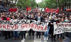 السلطات الفرنسية تسمح بتنظيم مسيرة احتجاجية ضد…: السلطات الفرنسية تسمح بتنظيم مسيرة احتجاجية ضد قانون العمل في باريس
