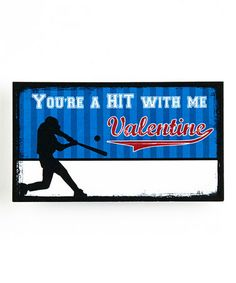 Love this 'You're a Hit With Me' Blank Valentine - Set of 20 on #zulily! #zulilyfinds