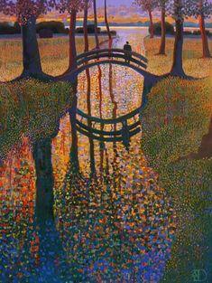Bridge painted by Ton Dubbeldam