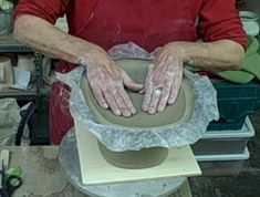 This is the technique I use to build my casserole lids. Large square oval baker--how to build a slab lid for an altered piece