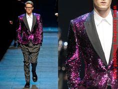dolce gabbana sequin jacket blazer fall winter 2011 2012 men collection pink black trent izandrew blog (2)