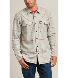 The RVCA Tall Order is a regular fit, yarn-dyed heather plaid, long sleeve woven button down shirt.  The shirt is a heavier weight with a large scale on...