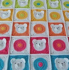 This unique and very cute, colorful teddy bear baby blanket would be a wonderful present for your precious baby, or a perfect baby shower gift! This blanket will put a smile on your baby's face. And a little white bear's army will keep your baby worm and safe.