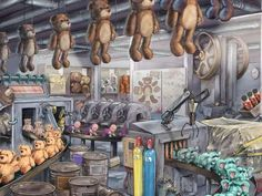 Ravensburger Puzzle, Painting, Too Nice, Pretend Play, Creepy, Games, Painting Art, Paintings, Drawings