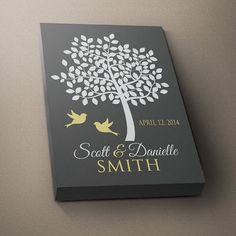 FAMILY TREE Custom Wall Art, Prints Couple Name Gift, Personalized Wedding or Anniversary Gift, Last Name Established Date Love, Shower Gift