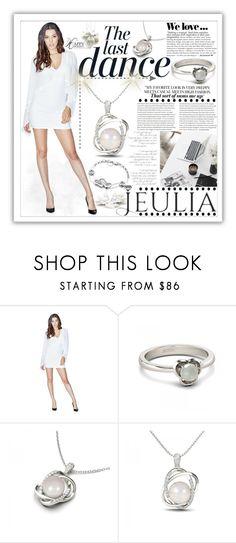 """""""Jeulia Jewelry-White Elegance.12"""" by samirhabul ❤ liked on Polyvore featuring moda, GUESS, Anja, Zara, white, jeulia y jeuliajewelry"""