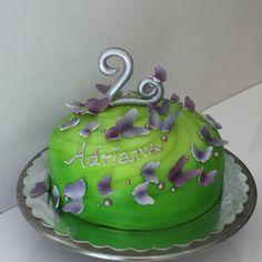 Cake green Butterflies Torte grün Schmetterling