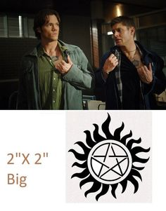 Supernatural Sam and Dean Winchester Temporary by Christalinasales, $1.00