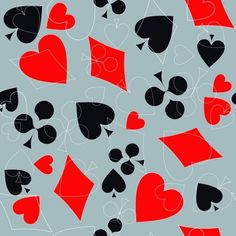 Векторы, похожие на 233820048 Seamless vector pattern of playing card sings Online Roulette, Seamless Textures, Suit, Club, Abstract, Games, Illustration, Artwork, Summary
