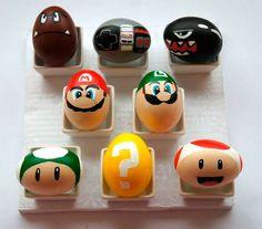 Huevos de pascua Mario Bros, actividades pascua niños