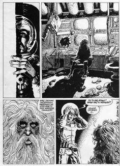 Early works of Grzegorz Rosiński (Thorgal) from polish SF Comics magazine Alfa, 1975