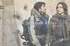 Jyn and Cassian | Star Wars | Rogue One | RebelCaptain | Tumblr