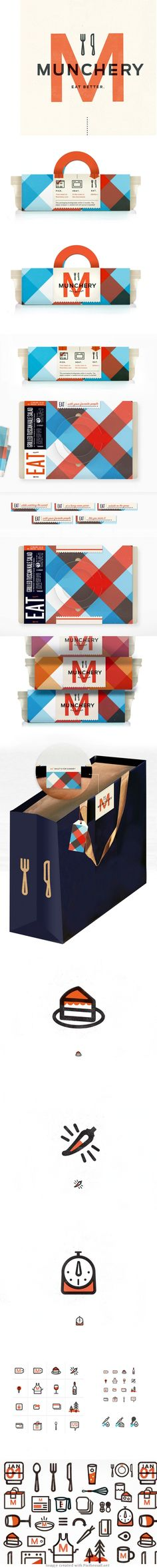 Munchery | Kelli Anderson. Time for lunch #identity #packaging #branding PD
