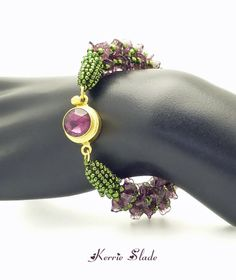 Another view of that vintage amethyst crystal gold plated silver filled box clasp from AGOS. http://www.agrainofsand.com/Beads-Clasps-253.html