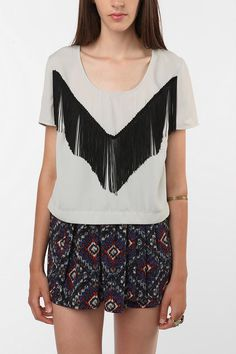 Fringed T-shirt