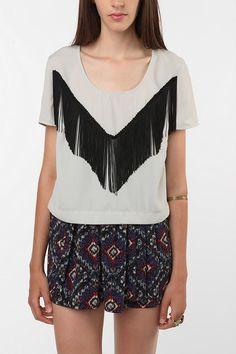 tee shirt + fringe