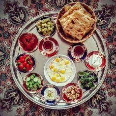 Iranian Breakfast www.tablehalal.com