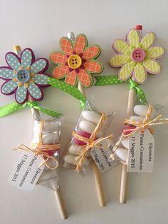 Risultati immagini per satolina colorata con fiore porta caramelle
