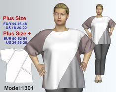 Plus size Tunic Sewing Pattern PDF | Craftsy