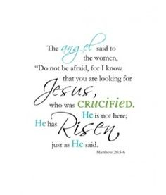 He is risen! Free printable Bible verse.