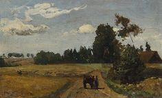 Anton Mauve - Boerenkar in zomers landschap