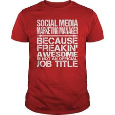 I Love  Awesome Tee For Social Media Marketing Manager T shirts #tee #tshirt #Job #ZodiacTshirt #Profession #Career #marketing manager
