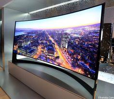 سامسونج تكشف عن أول تلفاز عملاق قابل للانحناء UHD » بنوته كافيه