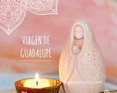 Virgen de Guadalupe - Mother Mary Our Lady Mexican Goddess Prayer Fertility Doula Midwife Sculpture Statue Pagan Altar