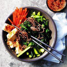 Sesame-ginger tofu and vegetables