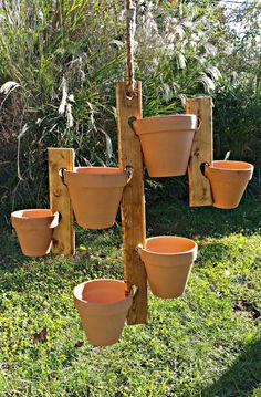 Hanging Flower Pot Holder Hanger by HighFlightDesigns on Etsy