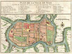 Plan de la Ville De Siam. - 1687