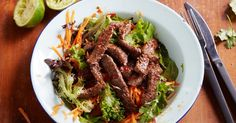 Topped with tender beef, this quick and easy Thai salad packs a flavour punch.