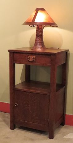 Extremely Rare Gustav Stickley Tall Nightstand (aka Somno) x x Arts And Crafts Furniture, Furniture Projects, Tall Nightstands, Craftsman Style Furniture, Gustav Stickley, Arts And Crafts Movement, Furniture Manufacturers, My Room, End Tables
