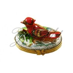 Limoge Porcelain Box, Cardinal at YOU! Boutiques #youboutiques #limoge #cardinal #bird #porcelain