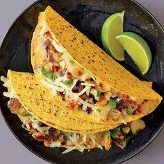 Spicy Potato Tacos| http://www.rachaelraymag.com/Recipes/rachael-ray-magazine-recipe-search/dinner-recipes/spicy-potato-tacos