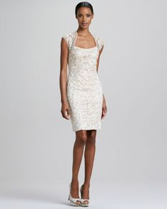 8a7e3c2f99d Love this dress - Cap-Sleeve Beaded Cocktail Dress by Sue Wong at Neiman  Marcus