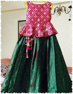 Source by manjulareddygangula Blouses Kids Dress Wear, Kids Gown, Little Girl Dresses, Girls Dresses, Long Dresses, Kids Wear, Kids Indian Wear, Kids Ethnic Wear, Kids Blouse Designs