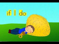 Mary's little lamb recites the old nursery rhyme Little Boy Blue, while Mary repeats and emphasizes the sight words.