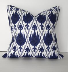 Ikat Pillow Cover - 18x18 inch