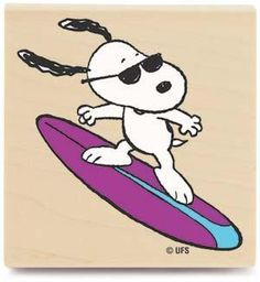 ☮ American Hippie Retro Peanuts ~ Joe Cool - Surfing Snoopy