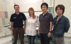 Con i colleghi Tajima dal Giappone, presso showroom Studio Auriga