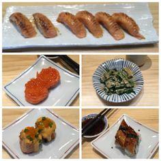 Salmon/Salmon Belly Aburi Sushi Salmon Hana Ikura Horenzo Goma Salmon Hana Spicy Roll and Unagi Sushi. Love them all their aburi is still the best aburi! The salmon hana ikura is very fresh. The spicy hana is so delicious the goma sauce is strong just the way i like and lastly the unagi is so thick and tasty. #namasushi #bysushimasa #salmon #aburi #salmonaburi #unagisushi #salmonhana #goma #sushi #japfood by mandacesca