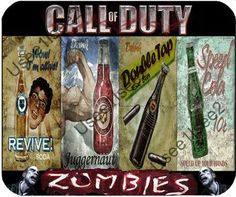 call of duty zombies perk bottles posters - Google Search